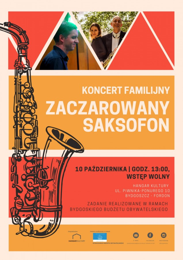 """Koncert Familijny """"Zaczarowany Saksofon"""" - plakat"""